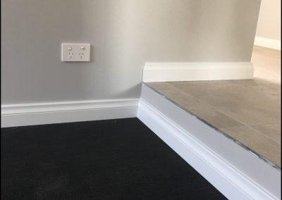 Dark carpet and white skirting board 4- Octopus Skirting Boards